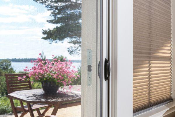 SOLAR insect screen door.